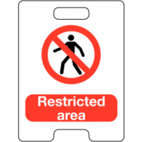 Restricted Area Temporary Floor Stand