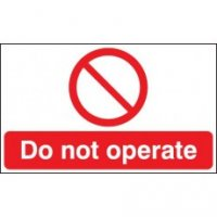 100 x 250 Do Not Operate