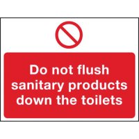 Self-adhesive vinyl sanitary products warning sign