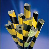 High visibility polyurethane foam corner impact protectors