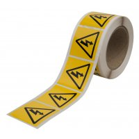 Electricity Symbol Label Roll of 500 50 x 50 mm