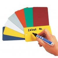 Coloured Metal Write-On Tags