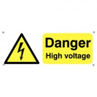 100 x 250 Danger High Voltage