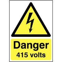 100 x 250 Danger 415 Volts