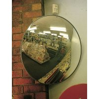 Wall-Mounted Indoor Convex Acrylic Security Mirror