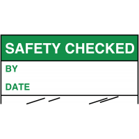 Electrical Safety Write-On Cable Markers - SAFETY CHECKED BY/DATE