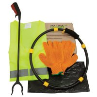 Litter Picker Kit with Sack Hoop, Gloves and Waste Sacks