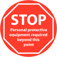 Self-Adhesive Anti-Slip PPE Required Floor Sign
