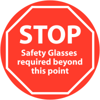 Anti-Slip Safety Glasses Stop Floor Signs