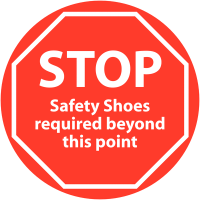 Self-adhesive and Anti-Slip 'STOP' Safety Shoes Floor Sign