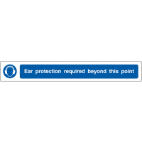 'Ear protection required' self-adhesive anti-slip floor strip
