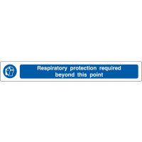 Highly Visible Respiratory Protection Required PPE Floor Strips