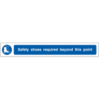 Warning floor strips - safety shoes required