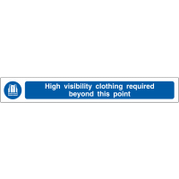 High Visibility Clothing Required' Anti-Slip Floor Strip Sign