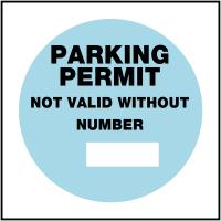 Reusable window cling PVC parking permit labels