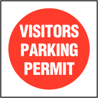 PVC vehicle window visitors parking permit labels