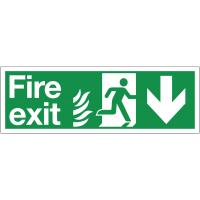 HTM65 NHS Highly Visible Running Man Arrow Down Sign