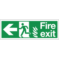 HTM65 NHS Highly Visible Running Man Arrow Left Sign