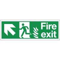 HTM65 NHS Running Man Arrow Diagonal Left Up Durable Sign