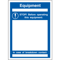Customisable plastic lockout sign holders