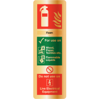 Deluxe Foam Fire Extinguisher Instruction Sign