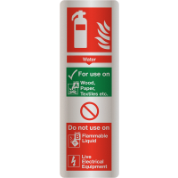 Deluxe Water Fire Extinguisher Instruction Signs