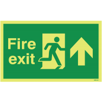 Photoluminescent Anti-Slip Fire Exit Floor Signs – Arrow Up