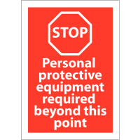 Red PPE Safety Awareness Sign