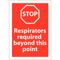 Respirators Required PPE Warning Sign