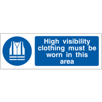 High Visibility Clothing Must Be Worn Double-Sided Hanging Sign