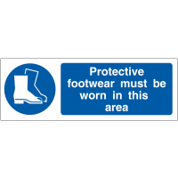 Protective Footwear Must Be Worn In This Area' Double Sided Hanging Signs