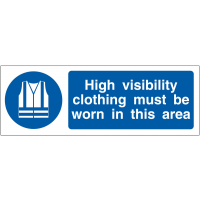 High Visibility Clothing Must Be Worn' Double-Sided Projecting Wall Sign