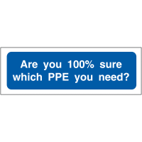 """Are You 100% Sure Which PPE You Need?"" PPE Locker Reminder Signs"