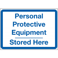 Vibrant PPE Locker Signs - PPE Stored Here