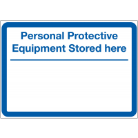 Customisable 'Stored Here' Sign for PPE