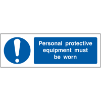 Durable Locker Signs Stating 'PPE Must be Worn'