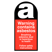 Warning Contains Asbestos Self-Adhesive Eco-Friendly Labels