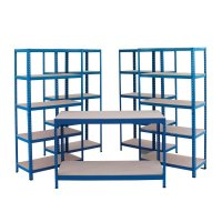 Small Business Shelving Starter Kit in Powder-Coated Steel