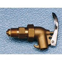 Self-closing lockable stainless steel barrel tap with flame arrestor