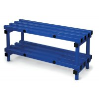 Durable Plastic Cloakroom Furniture – Bench Seating With Undershelf