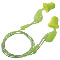 Fluorescent green Uvex Xact-fit single use 26 dB earplugs