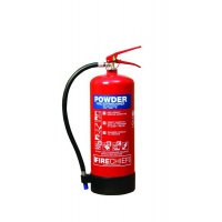 Powder fire extinguisher for classes ABCDF and electrical fires
