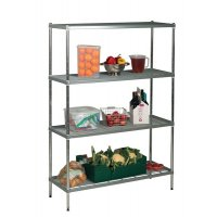 Electro-Polished Stainless Steel Wire Shelving Initial Bays