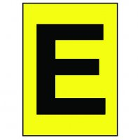 Highly Visible, Flexible Use Vinyl Cloth Letter Labels