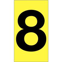 Adhesive Vinyl Cloth Number Labels