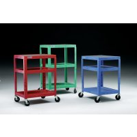 Adjustable steel tray trolley in choice of colours