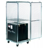 Zinc-Plated Security Roll Pallet with Mesh Top and Sides
