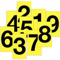 Versatile cloth number labels suitable for indoor and outdoor use