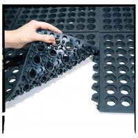 Inter-locking mat tiles to address workplace fatigue