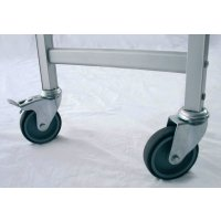 Castors for stainless steel shelving